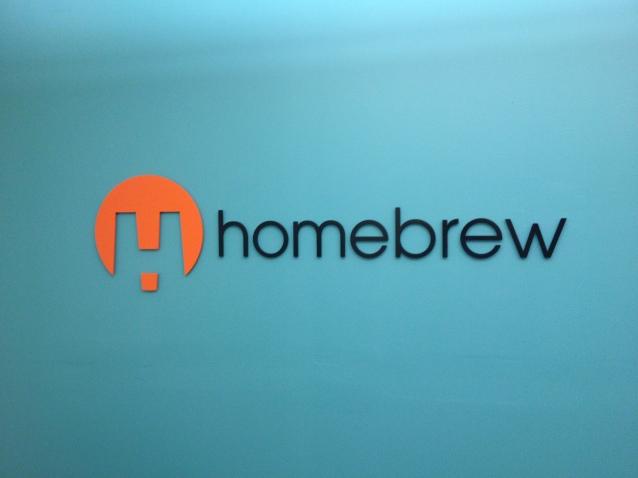 Homebrew signage